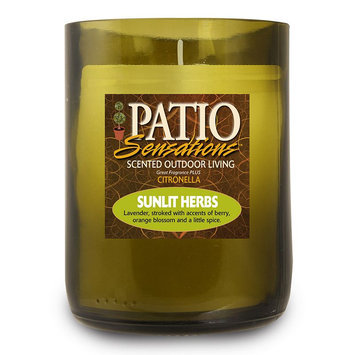 Patio Sensations Sunlit Herbs Citronella 9-oz. Wine Jar Candle (Green)