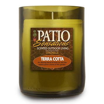 Patio Sensations Terra Cotta Citronella 9-oz. Wine Jar Candle (Green)