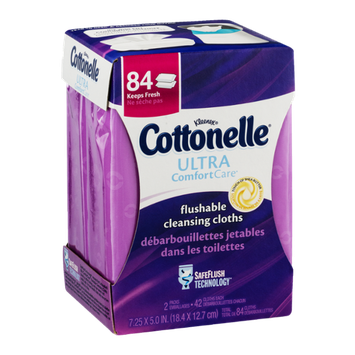 Cottonelle Ultra Comfort Care Flushable Cleansing Cloths