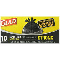 CLOROX FIRST BRANDS CORP. Glad Quick TieTrash Bags, Large, 10 Count