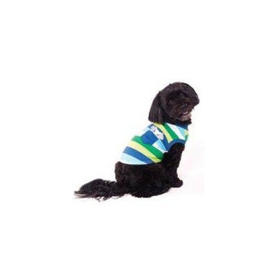 Ethical Pet Bone Stripe Dog Tee in Blue Size: Small