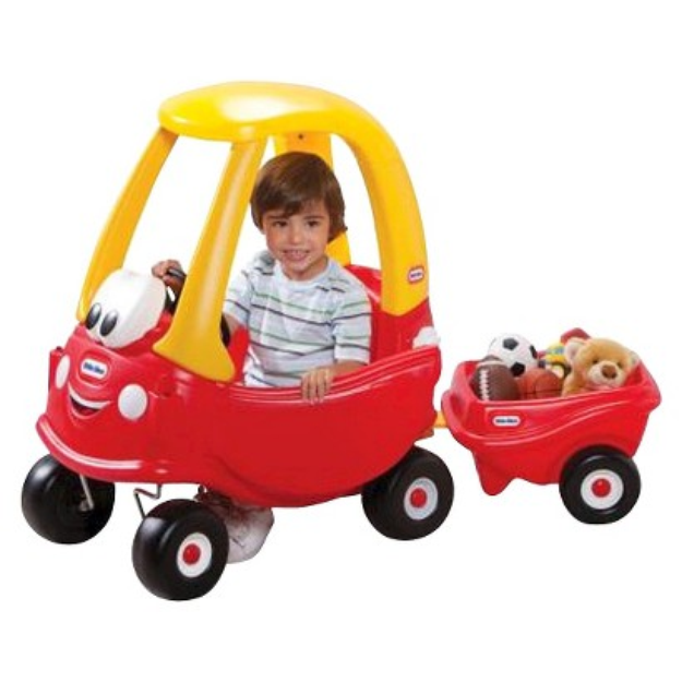 Little Tikes Cozy Coupe w/ Trailer