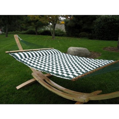 South Mission Roman Wooden Arc Hammock Stand