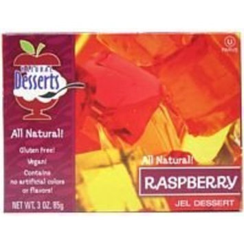 Natural Desserts Jel Mix, Raspberry, 3-Ounce (Pack of 24)