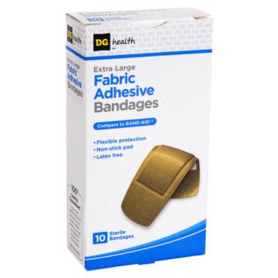 DG Health Fabric Adhesive Bandages - Extra Large - 10 ct