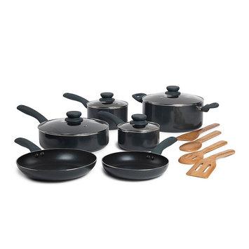 Basic Essentials 14-pc. Nonstick Aluminum Cookware Set (Grey)