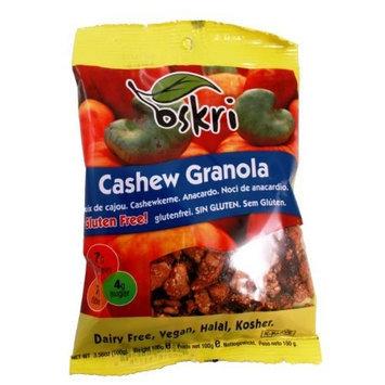 Oskri Organics Oskri Cashew Granola, Gluten Free, 3.56-Ounce Bags (Pack of 12)