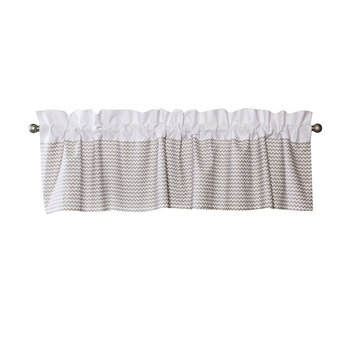 Trend Lab Ombre Dove Grey Chevron Rod-Pocket Straight Valance