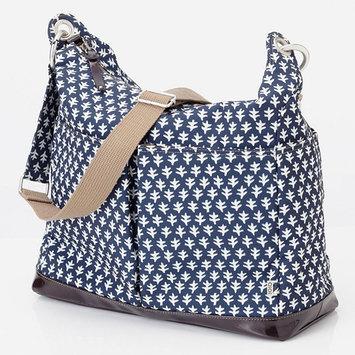OiOi Mini Geo 2-Pocket Hobo Diaper Bag in Monaco Blue
