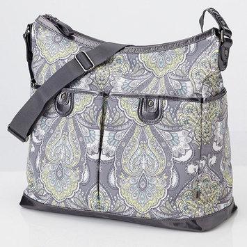 OiOi Baroque Patent Trim Hobo Diaper Bag in Paisley