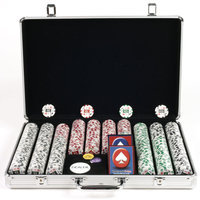 Trademark Commerce Trademark Poker 650pc 11.5g 4 Aces Chips with Executive Aluminum Case
