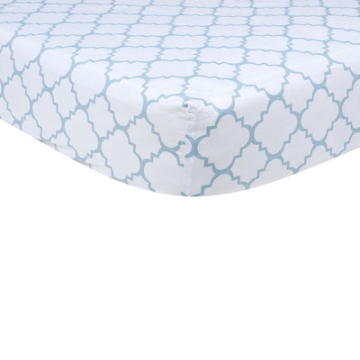 Trend Lab Baby Fitted Sheet - Blue by Lab
