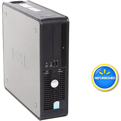 Optiplex Dell Off-Lease, Refurbished Black 745 Desktop PC with Intel Pentium D Processor, 2GB Memory, 80GB Hard Drive and Windows 7 Home Premium (Monitor Not Included)