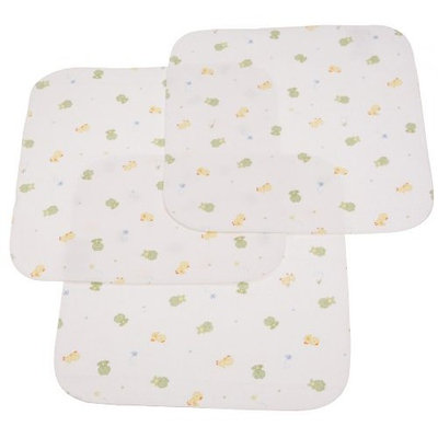 Carter's Carters Keep Me Dry Flannel Lap Pads, Green, 3 Pack (Discontinued by Manufacturer)
