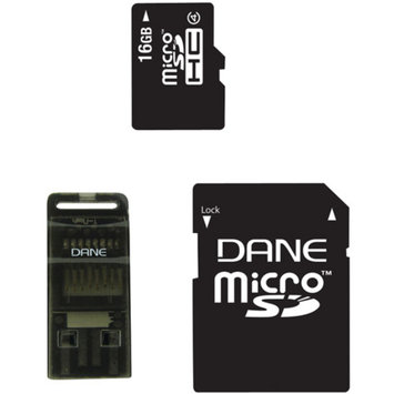 DANE-ELEC Dane-Elec DA-3IN1-16G-R 8GB Class 4 microSD Card