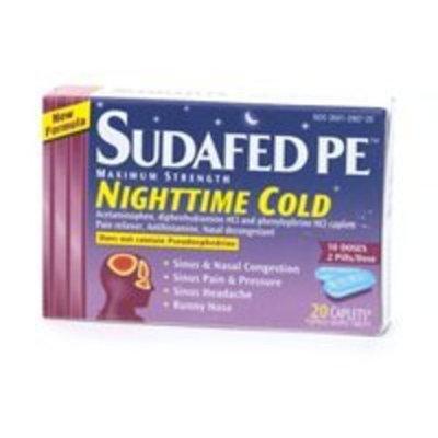 Sudafed PE Maximum Strength Nighttime Cold, Caplets 20 ea