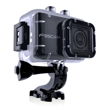 Foscam AC1080 Action Camera-HD1080P, Wide Angle - Black (AC1080)