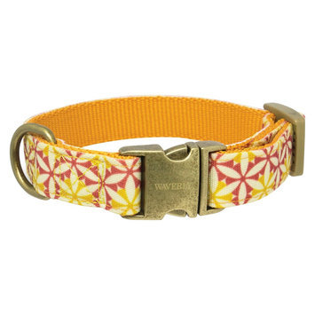 Waverly Fashion Canvas Dog Collar - Tan (Medium)