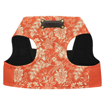 Waverly Flurry Coral Polyester Dog Harness - Orange (Small)
