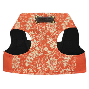 Waverly Flurry Coral Polyester Dog Harness - Orange (XSmall)