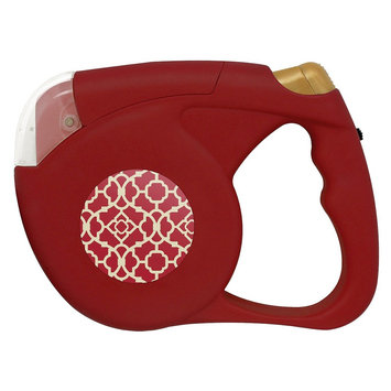 Waverly Retracable Pet Leash with Flashlight - Red