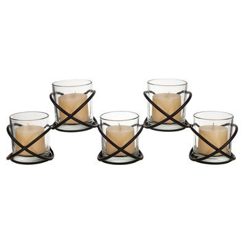 Danya B. Orbits 5 Glass Candle Hurricane