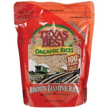 Texas Best Organics Rice Organic Jasmine Brown 32 oz. (Pack of 6) ( Value Bulk Multi-pack)
