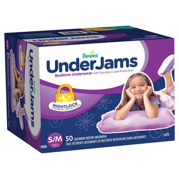 Pampers Underjams Pampers Girls' UnderJams Training Pants - Size S/M (50 Count)