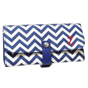 Cathys Concepts Cathy's Concepts Personalized Makeup Roll Brush Set - Navy