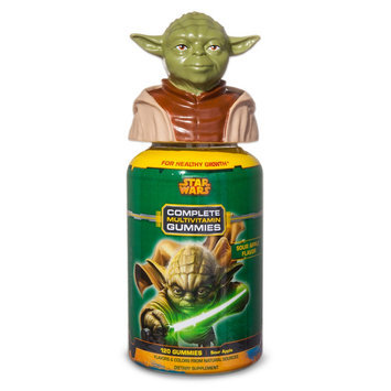 Us Nutrition Star Wars Multi-Vitamin Sour Gummies 120ct: Special Edition Yoda Topper