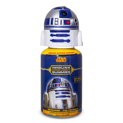 Us Nutrition Star Wars Immune Support Gummies 120ct: Special Edition R2D2 Topper