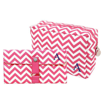 Cathys Concepts Cathy's Concepts Personalized Bag & Makeup Brush Set - Pink