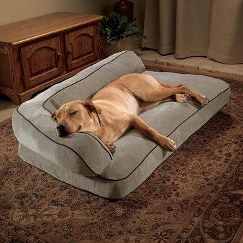 Doctors Foster & Smith Luxury Chaise Rectangular Pet Bed (Beige/Khaki)