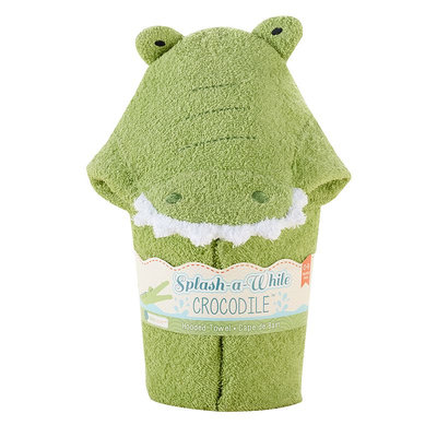 Baby Aspen Splash-a-While Crocodile Hooded Spa-Towel