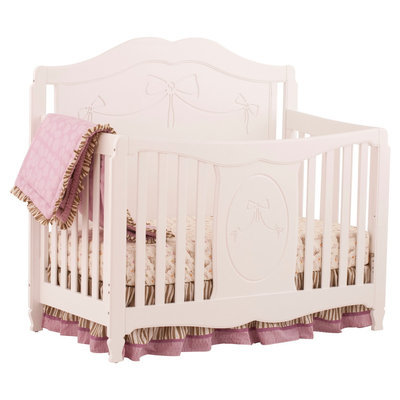 Stork Craft Princess 4 in 1 Fixed Side Convertible Crib - White
