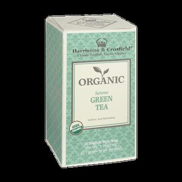 Harrisons & Crosfield Organic Serene Green Tea 20 English Style Tea Bags