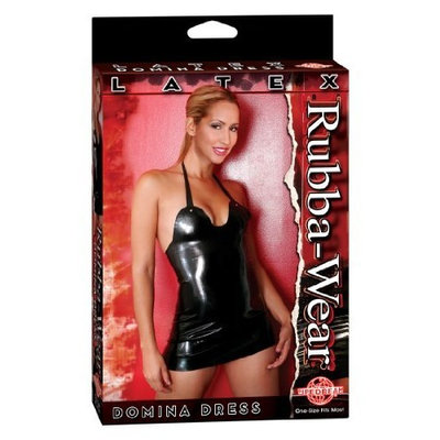 Rubba Wear Latex Domina Dress, Black, One Size