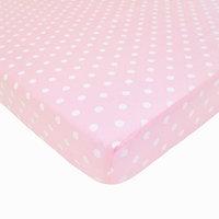 American Baby Company Percale Cotton Mini Crib Sheet Color: Pink Dot