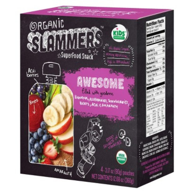 Baby Gourmet Foods Inc. Organic Slammers Superfood Snack Awesome Fruit & Yogurt Filled