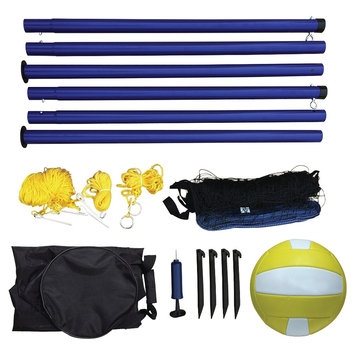 Hathaway Portable Volleyball Net, Posts, Ball & Pump Set