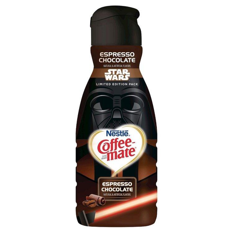 Nestle' Usa Coffeemate coffee creamer Star Wars Darth Vader Espresso Chocolate 32-fl. oz.