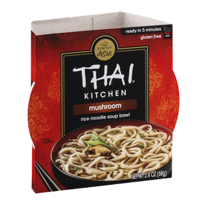 Thai Kitchen Rice Noodle Soup Bowl Mushroom