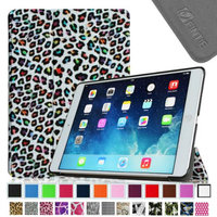 Fintie Smart Shell Leather Case Cover for Apple iPad Air (iPad 5 5th Generation), Leopard Rainbow