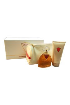 Emanuel Ungaro Diva 3 Piece Gift Set for Women