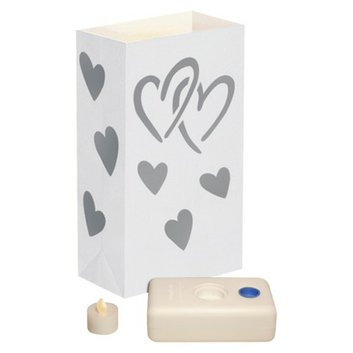 Lumabase Designer Bag LED Luminaria Kit- Wedding Heart