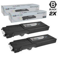 LD Dell Compatible RD80W (67H2T) Set of 2 Black Extra High Yield Toner Cartridges Includes: 2 593-BBBU Black for use in Dell Color Laser C2660dn, and C2665dnf Printers