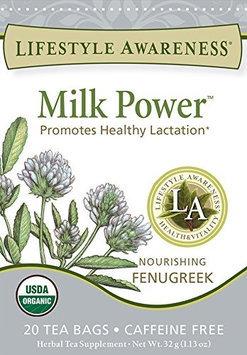 Lifestyle Awareness Organic Herbal Tea Milk Power 20 Tea Bags - Vegan