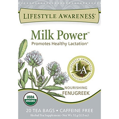 Lifestyle Awareness Organic Herbal Tea Milk Power 20 Tea Bags - Vegan