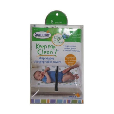 Summer Infant Keep Me Clean Disposable Changing Table Covers, Green/White (Discontinued by Manufacturer)