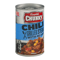 Campbell's Chunky Chili Grilled Steak with Beans